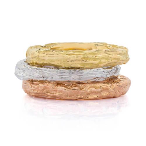 Banyan Tree Gold Stackable Ring