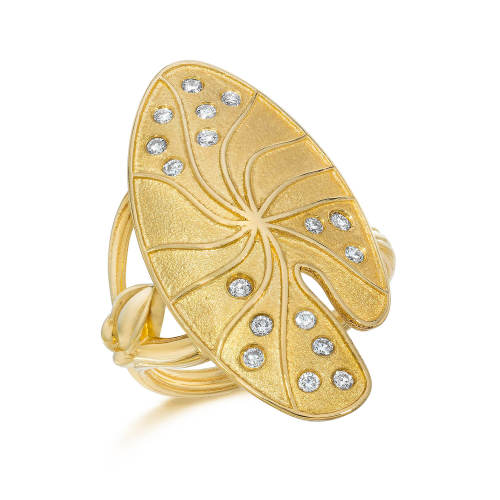 Lily Pad Gold Ring