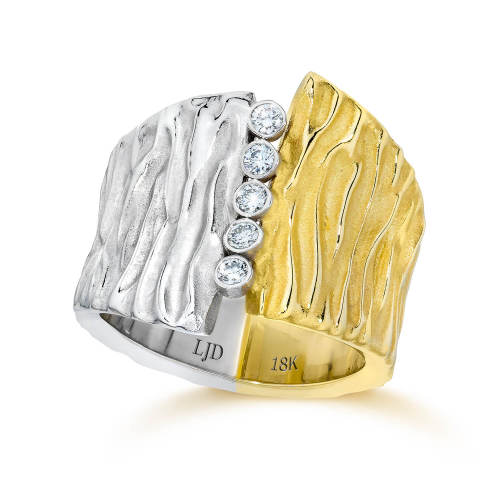 Seagrass Two Tone Wedding Ring