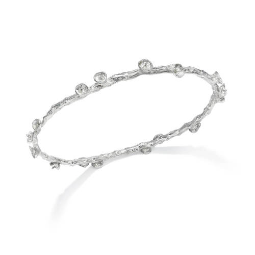 Silver Palm Fruit Bangle