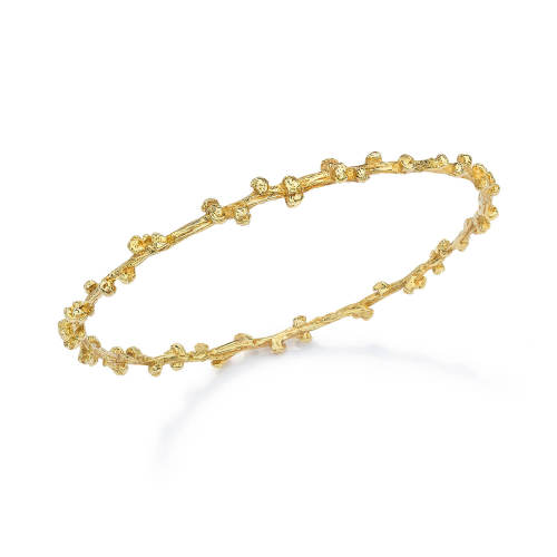 Gold Palm Berries Bangle