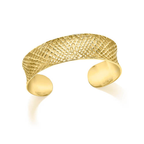 Gold Sacred Geometry Cuff