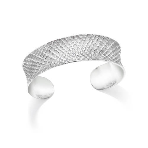 Silver Sacred Geometry Cuff