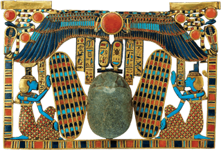 TUT1-Pectoral-of-WingedScarab king tut Ancient Egyptian Winged Scarab