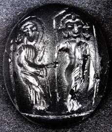 Fig 5 - Gem From Gadara (Carneol) From Sa'd Collection (6th-7th Century)