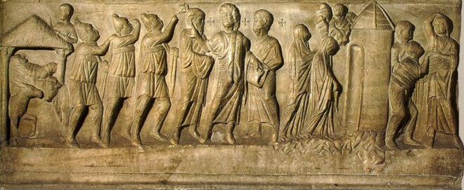 Fig 5 - San Celso Sarcophagus, Milan (ca. 400)