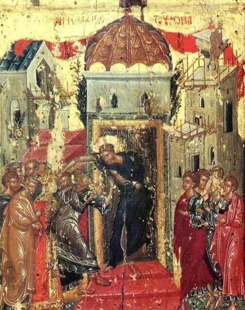 Fig. 16 - Icon From Monastery of Metamorphosis in Meteora (1367-1384)