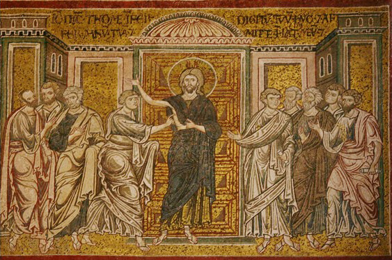 Fig. 6 - Middle Byzantine Period - Mosaic, Cathedral of Monreale (12th Century)