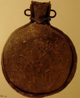 Fig. 9 - Pilgrim Flask From Monza (ca. 600)