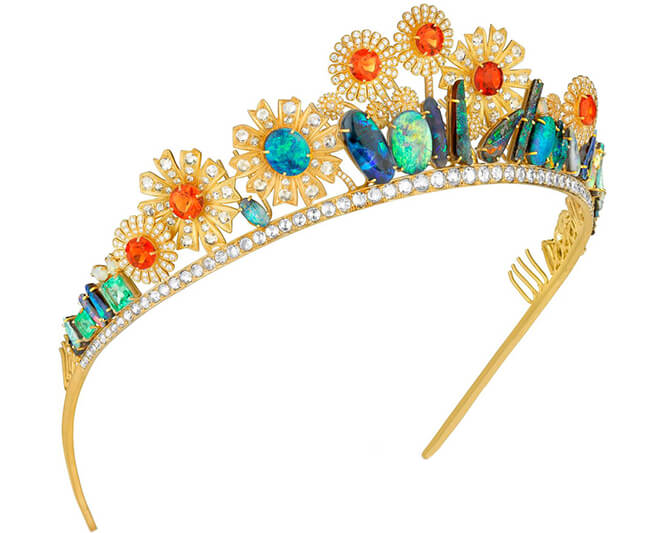 Newsom Nouveau Agrarian Tiara by Irene Neuwirth - Side View