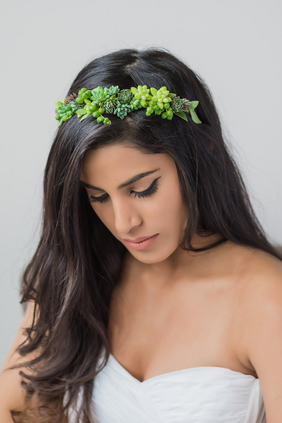 Succulent Tiara by PassionFlowerMade