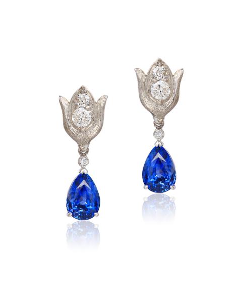 Cynthia Renee gold diamond sapphire earrings (2)