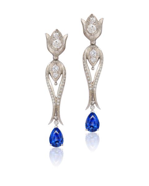 Cynthia Renee gold diamond sapphire earrings (3)