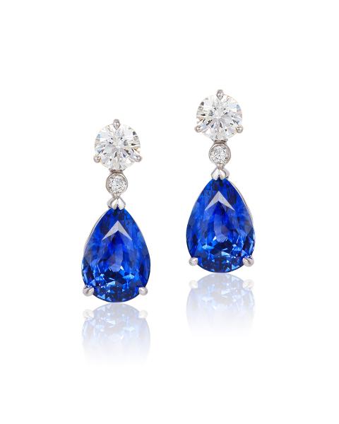 Cynthia Renee sapphire diamond earrings