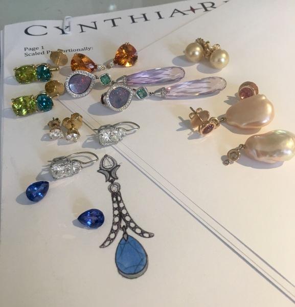 Cynthia Renee sapphire earrings Yearout