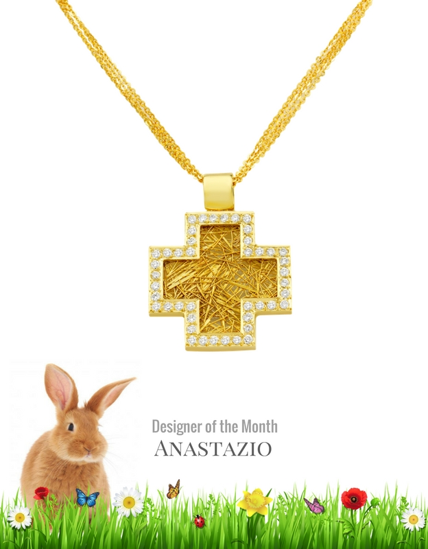 18 karat gold diamond cross