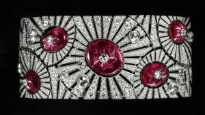 Cartier Art Deco diamond and ruby bracelet.