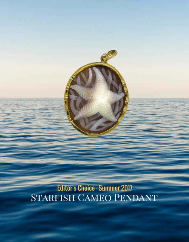 starfish cameo gold pendant