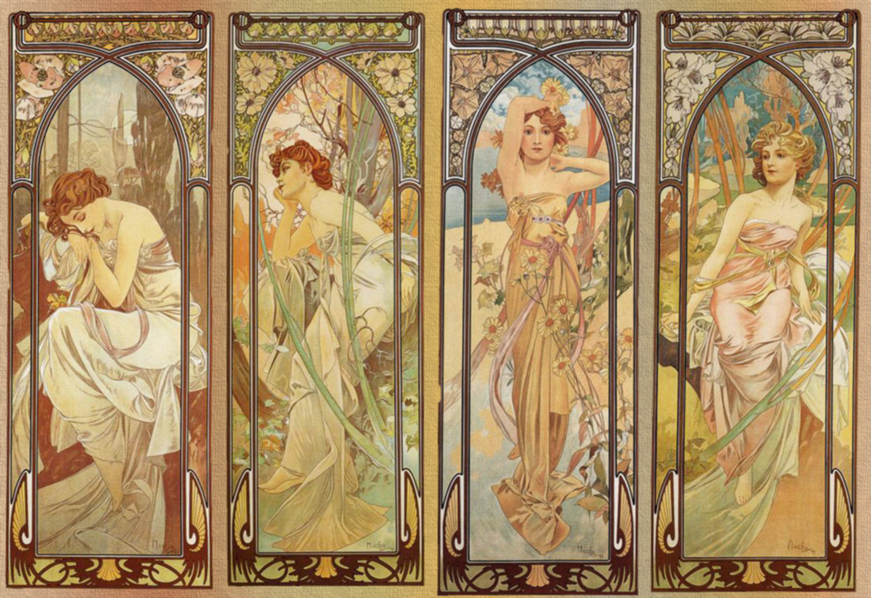 art nouveau, alphonse mucha,