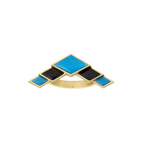 Turquesa Triangle Ring