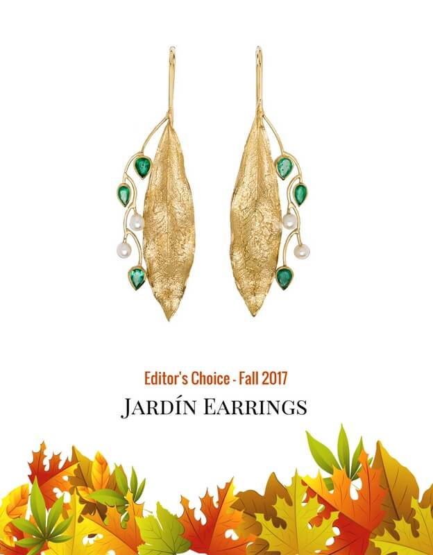 earrings, gold, fauna