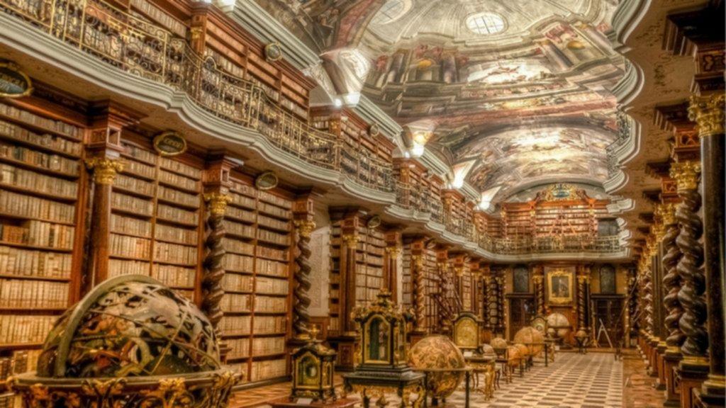 prague, library, klementinum, clementinum