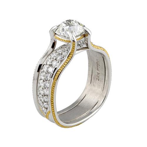 Antique Cushion Diamond Ring