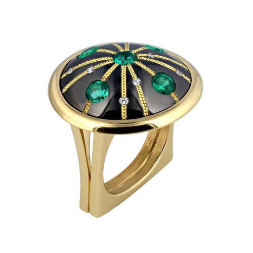 Art Deco Inspired Emerald Ring