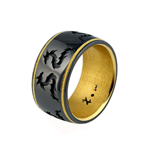 Knightsteel Gents Dragon Ring