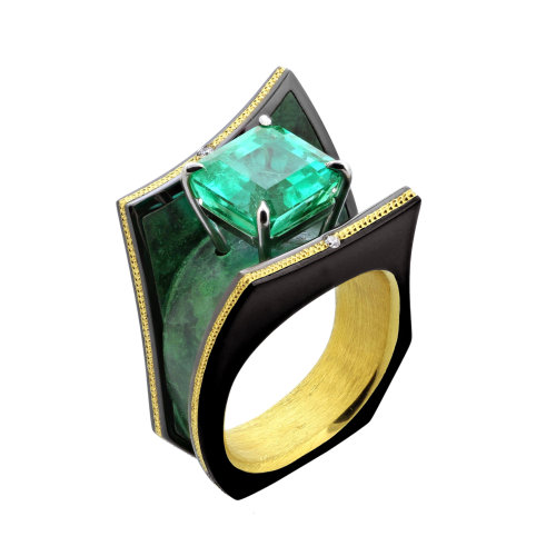 """Xena"" Emerald Ring"