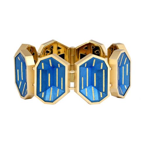 """Golden Blue"" Bracelet"