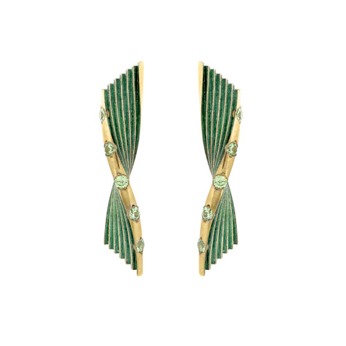 Bronze Age Fluted Earrings