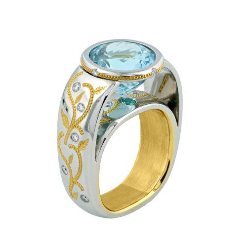 """Budapest Couture"" Paraiba Tourmaline Ring"