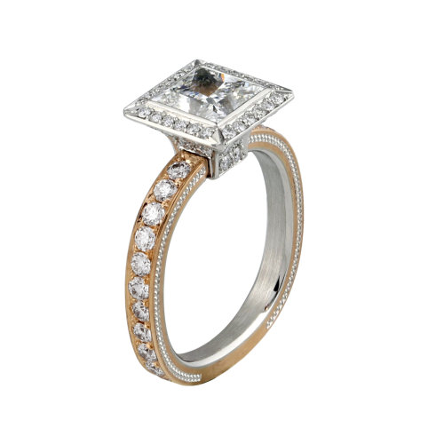 Firemark® Princess cut Diamond Ring