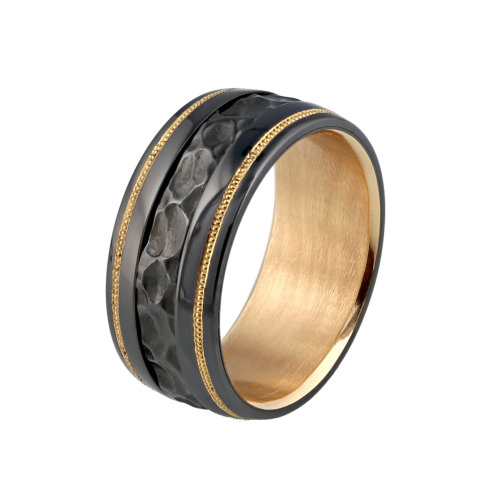 Knightsteel Mens Hammered Band