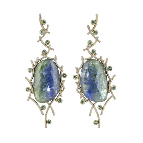 Tango in Tanzanite Earrings