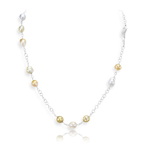 South Sea pearl Necklace with seahorse
