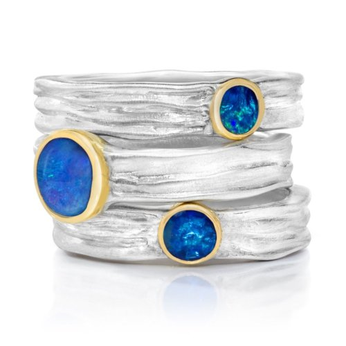 Waterfall Ring with opal