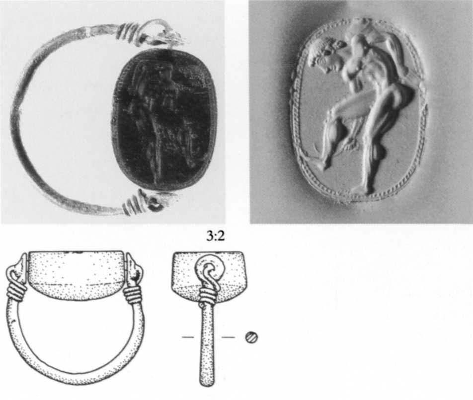 Obsidian scaraboid by the engraver Epimenes