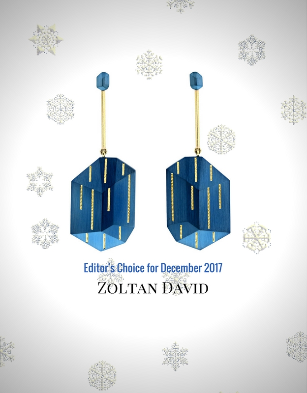 blue, earrings, 18K gold