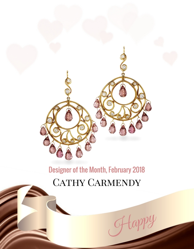 cathy carmendy sapphire gold diamond earrings