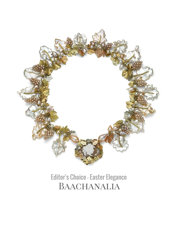 Bacchanalian cameo pearl necklace